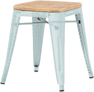 Tolix Timber Low Stool