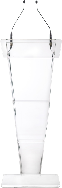 Clear Acrylic Lectern - V shape