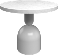 White Ava Side Table