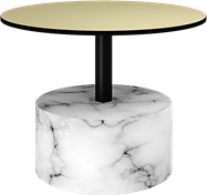 White Marble Base Coffee Table