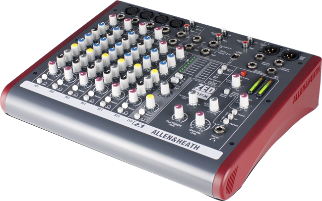 Audio Mixer: A&H Zed10 - 4ch Mic/2ch line with FX