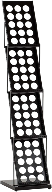 Brochure Stand 4 Tier - Black