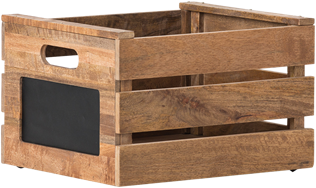 Wooden Crate With Chalk Label