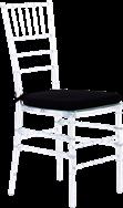 Crystal Chair inc Black Cushion