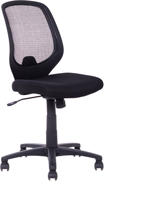 Ergo Typist Chair - Mesh Back - Black