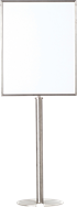 Sign Holder and Stand - Stainless - Large Portrait
