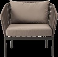 Palmer Lounge Chair - Dark Taupe