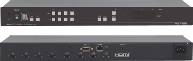 Kramer 4 X 4 HDMI matrix switcher